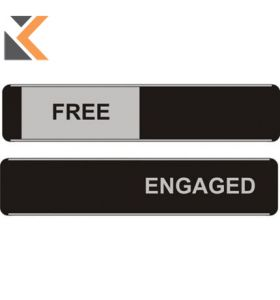 Sliding Door Sign Free / Engaged - [52 X 255mm]