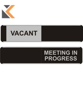 Sliding Door Sign Vacant / Meeting In Progress - [52 X 255mm]