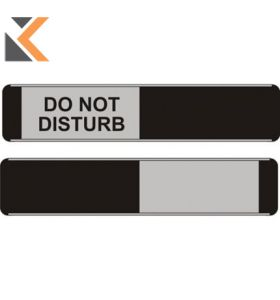 Sliding Door Sign Do Not Disturb / Black - [52 X 255mm]