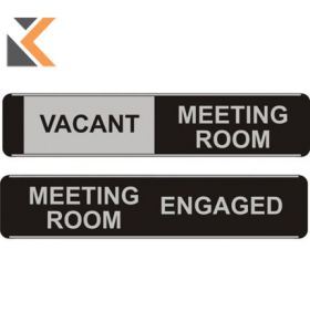 Sliding Meeting Room Door Sign Vacant / Engaged - [52 X 255mm]