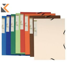 Exacompta Forever Assorted Colours A4 Recycled Board 3-Flap Files - [Pack of 25]