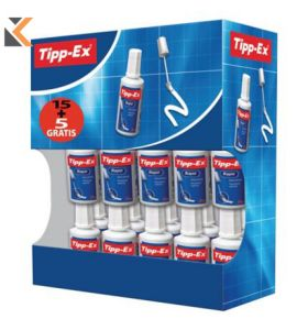 Tipp-Ex Rapid Correction Fluid Bottle 20ml - [Box of 15 + 5 Free]