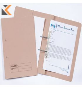 Guildhall Buff Foolscap Spring Pocket Transfer Files 315gsm - [Box of 25]