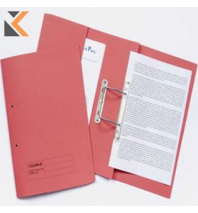 Guildhall Red Foolscap Spring Pocket Transfer 315gsm Files - [Box of 25]