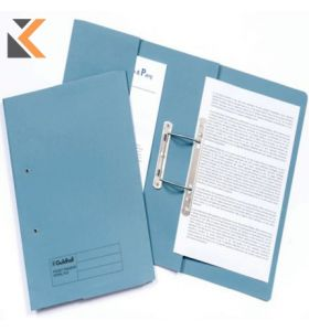 Guildhall Blue F/Scap Super Heavyweight Spring Pocket Transfer Files - [Box of 25]