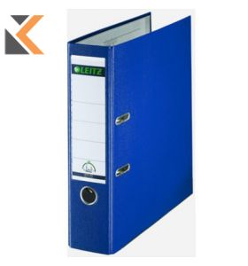 Leitz 180° Polypropylene Foolscap, Spine, Lever Arch Blue File - [80mm]