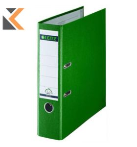 Leitz 180° Polypropylene Foolscap, Spine, Lever Arch Green File - [80mm]