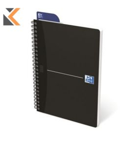 Oxford Office Card A5 Cover Wirebound Notebook Ruled 180 Pages Blk - [Pack of 5]