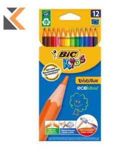 Bic Kids 829029 Eco Evolution Colouring Pencils - [Box of 12]