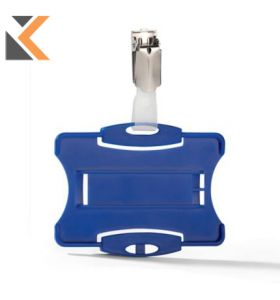 Durable Security Pass Holder With Clip  Pack of 25 Blue - [54X85mm]
