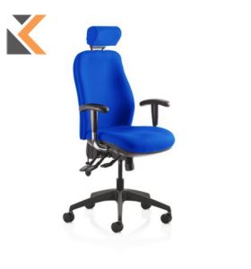 Re-Act Deluxe High Back Blue Chair Without Headrest