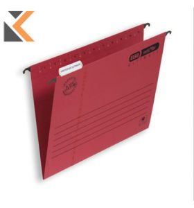 Elba Strongline Verticfile Ultimate Suspension Foolscap File Red V Base - [Bx 50]