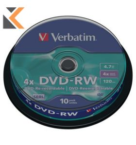 Verbatim DVD+RW Spindle - [Box of 10]