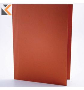Guildhall Orange Foolscap Square Cut Folders Capacity 100 Sheet - [Box of 100]
