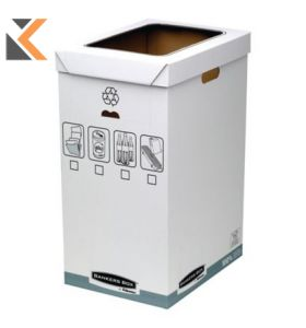 Fellowes Bankers Box System Recycle Bin White/Grey - [Pack of 5]