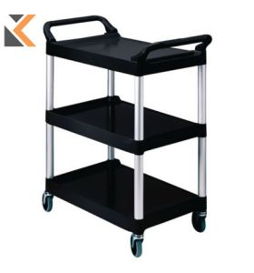 Rubbermaid Black Utility Trolley