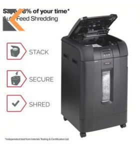 Rexel Shredder Auto Feed 750M Micro Cut P5 - [750 Sheet] Shredder