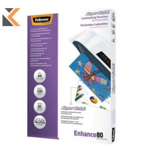 Fellowes Superquick Laminating Pouches 80ml - [Pack of 100]