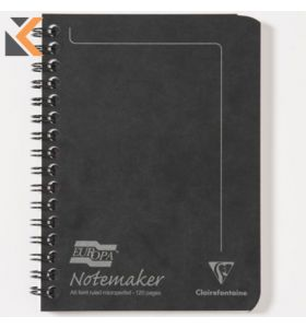 Europa Notemaker Notebooks A6 Black - [Pack of 10]