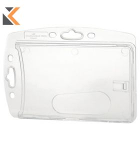 Durable Dual Proximity Card Holder 54X85mm Transparent - [Pack of 10]