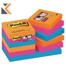 Post It Super Sticky Bangkok Notes Pack of 12 - [51X51mm]