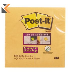 Post It Super Sticky Notes 76x76mm Bangkok - [Pack Of 6]