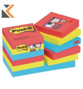 Post It Super Sticky Bora Bora Notes Pack of 12 - [48X48mm]
