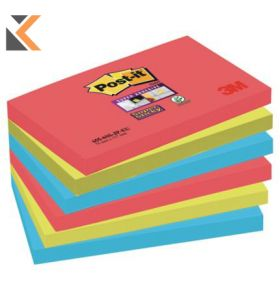 Post It Super Sticky Bora Bora Notes Pack of 6 - [76X127mm]
