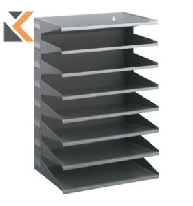 Durable Metal Sorter Rack Grey With - [8 Trays]