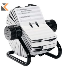 Durable Visiflex Business Card File Rotary