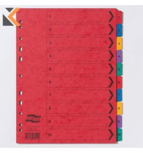 Europa Mylar Printed Indices, A4, 225gsm, Multi-Coloured - [10 Part 1-10]
