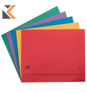 Europa Document Wallets, 265gsm, 45.5X32.5cm - Assorted Colours - [Pack of 25]