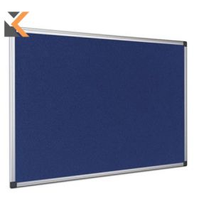 Bi-Office Fire Retardant Notice Board - [1800 X 1200mm] Blue*