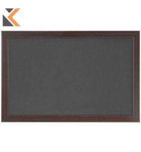 Bi-Office Oak Framed Felt Grey* Notice Board - [2400 X 1200mm]