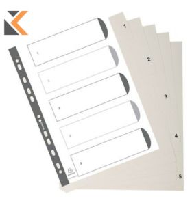 Exacompta Index PP White Each - [1-5]