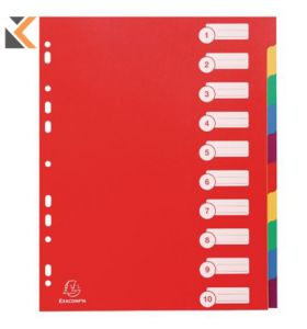 Campus PP Dividers, A4 Maxi, Multi-Coloured - [10 Part]