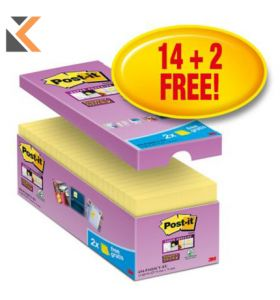 Post-It Super Sticky Value Pack Notes Yellow Pk16 - [76X76mm]