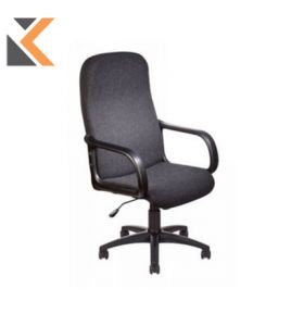 Deluxe High Back Manager's Chair With Arm Rests - [Charcoal]