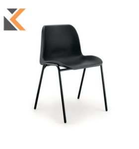Polypropylene Easy-Clean Stacking Chair - [Black]