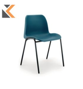 Polypropylene Easy-Clean Stacking Chair - [Blue]