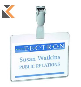 Durable Visitor/Security Badge With Clip 60X90mm Transparent - [Pack of 25]