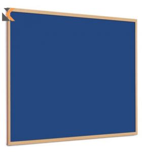 Quartet Oak Framed Felt Notice Board Royal Blue - [900mm X 1200mm]