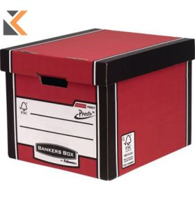 Fellowes Bankers Box Premium Tall Storage Box (Red) - [Pack of 10]
