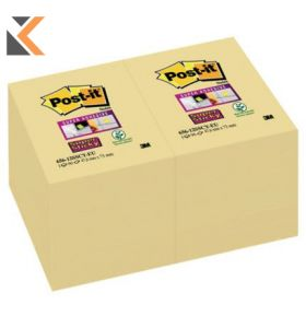 Post-It Super Sticky Notes Yellow Pk12 - [47.6X76mm]