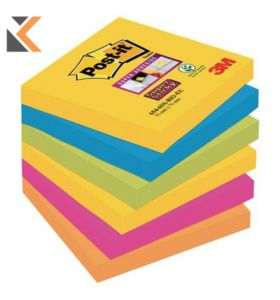 Post-It Super Sticky Notes Rio De Janeiro Colour Pk6 - [76X76mm]
