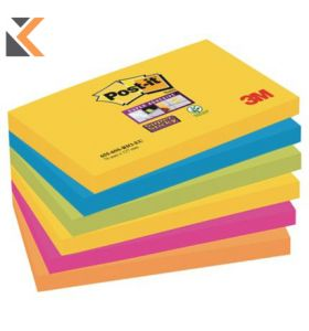 Post-It Rio Colour Super Sticky Notes Pack of 6 - [76X127mm]