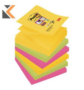 Post-It Super Sticky Z-Notes Rio Colour Pk 6 - [76X76mm]
