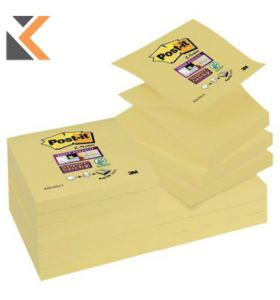 Post-It Super Sticky Z-Notes Canary Yellow Pk12 - [76X76mm]