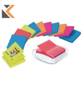 Post-It Dispenser With 12 Packs of Z-Notes Bora Bora Colour Notes - [76 X 76mm]