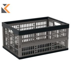 Strata Folding Crate Grey - [32 Litre]